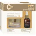 CREMA FACIAL Y SERUM ANTIEDAD PACK C-EVOLUTION PARABOTICA
