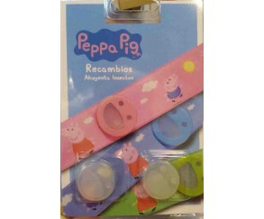 peppa pig recambios pulsera anti mosquitos